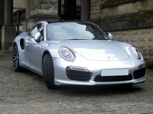 picture of porsche car in driveway
